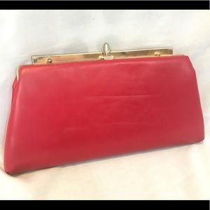 Red vintage clutch